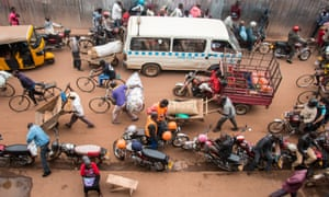 Busy Kampala street