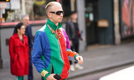 The Gucci shell suit spotted at the London fashion week men's shows this month