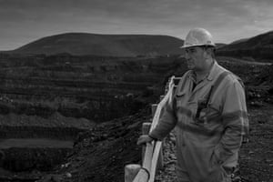Ronnie Phillips, at the Miller Argent-run opencast coalfield at Ffos-y-fran near Merthyr