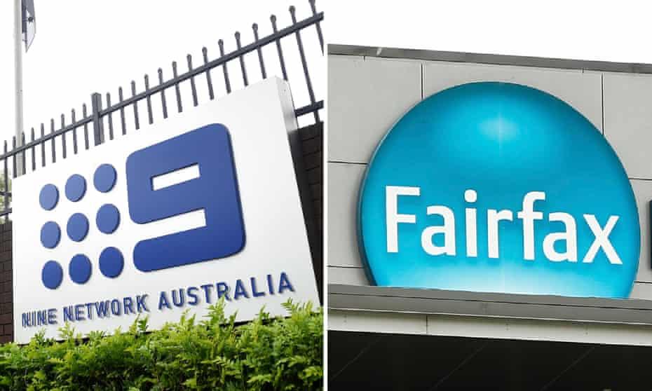 A composite of the Nine Network Australia and Fairfax Media logos