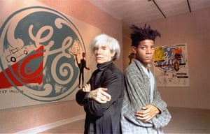 Andy Warhol and Jean-Michel Basquiat, September 1985.
