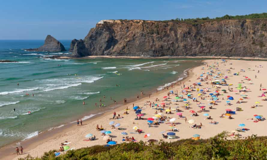Praia de Odeceixe in Portugal, which is on the 'green list' of travel destinations for people in England
