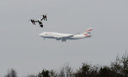 Drone and aeroplane