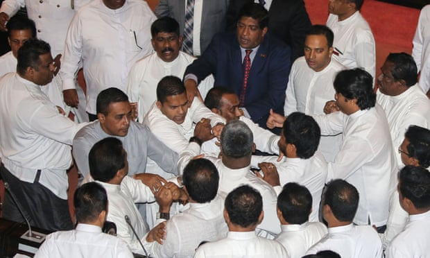Sri Lanka MPs hurl \'chilli powder\' and chairs in fresh chaos