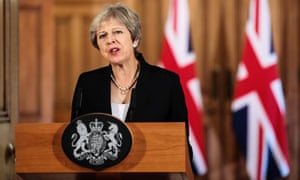 Theresa May makes a statement on the Brexit negotiations following a EU summit in Salzburg.