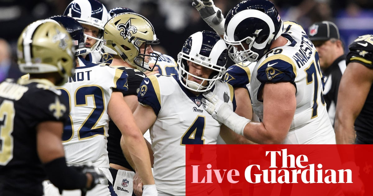release date: 6339b 718fe NFC Championship Game: Los Angeles Rams 26-23 New Orleans ...