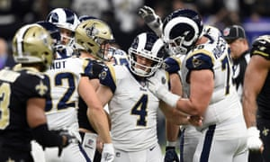 e41de81be78 NFC Championship Game  Los Angeles Rams 26-23 New Orleans Saints ...