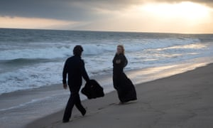 Now dance backwards … Christian Bale and Cate Blanchett in Knight of Cups.