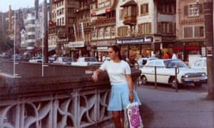 Regina Herrmann in Zurich, Switzerland after escaping from communist East Germany.