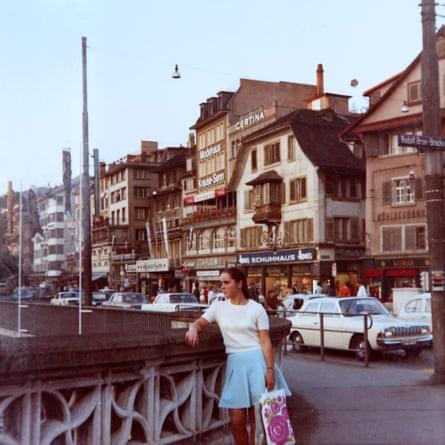 Regina Herrmann in Zurich, Switzerland, after her escape from the GDR.