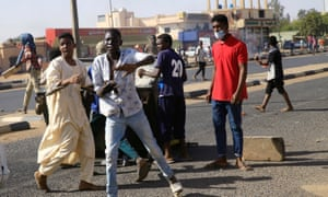 Sudanese demonstrators take part in an anti-government protests in Khartoum lasgt week.