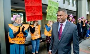 Extinction Rebellion activists at the International Maritime Organization in London as delegates arrive