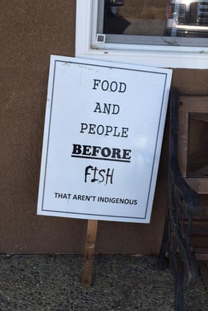 A sign at Todd Allen's farm suggests the state has its priorities wrong. california drought