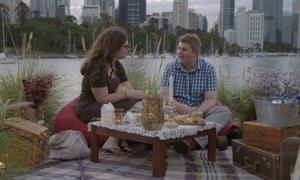 Ruth and Thomas enjoy an outdoor date in Love on the Spectrum