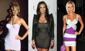 Eva Herzigová, Kim Kardashian and Victoria Beckham do bodycon.