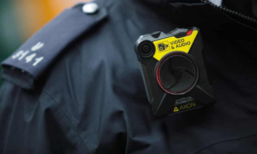 Body-worn camera on police officer