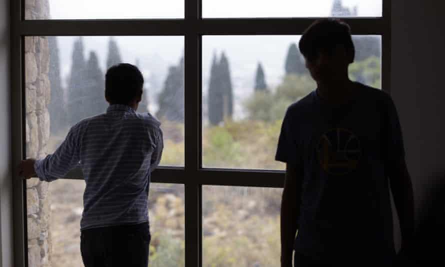 Unaccompanied minors in a reception centre in Greece