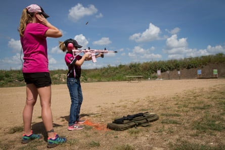 Automatic rifles come in pink to appeal to women and girls.