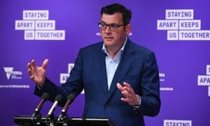 Victorian premier Daniel Andrews addresses the media on Thursday.