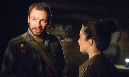 'I knew the dialogue was something I could speak' … with Dominic West in The River.