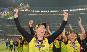 A crowd of 86,174 at the MCG watched Meg Lanning's Australia win the Women's T20 World Cup in March.