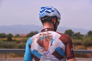 Hugo Houle's injury, sustained during a crash on Stage 7