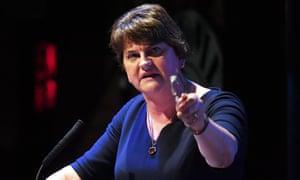 The DUP leader, Arlene Foster, backed Boris Johnson's plan for leaving the customs union.