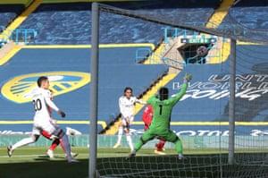 Leeds United's Helder Costa fires in the opening goal.