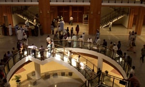 Nigerian journalists covering the National Assembly in Abuja, above, claim the new rules are designed to stop them reporting on government proceedings.