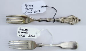 Forks once held by Prince Harry and Hillary Clinton