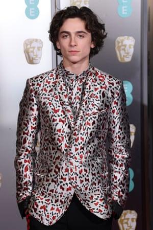 Timothée Chalamet keeps his title as crown prince of this season's red carpets, wearing Haider Ackermann