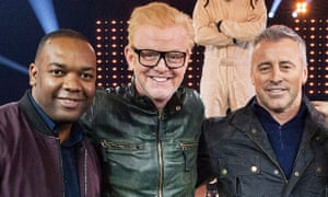Top Gear: Rory Reid with Chris Evans and Matt LeBlanc.