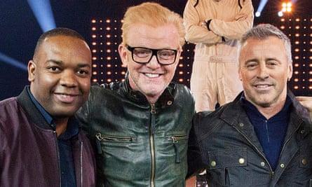Top Gear: Rory Reid with Chris Evans and Matt LeBlanc.
