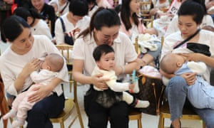 Mothers attend a breastfeeding promotion day event in Xiangyang, China.
