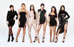 Keeping Up With the Kardashians ... (from left) Kris Jenner, Khloe Kardashian, Kim Kardashian West, Kendall Jenner, Kourtney Kardashian and Kylie Jenner.