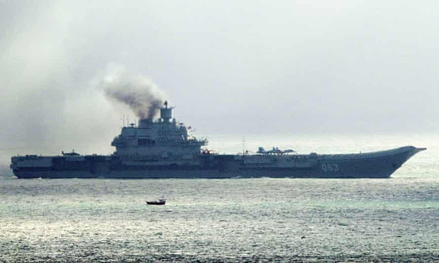 The Russian aircraft carrier Admiral Kuznetsov