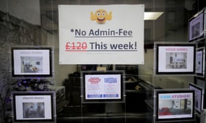 Sign of the times: letting agents' fees have finally been banned.