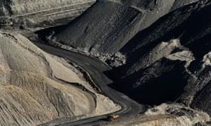 Coal truck in Hunter valley mine