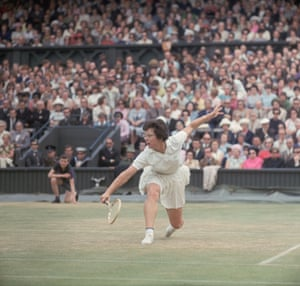 Ladies of Wimbledon: American tennis player Billie Jean King in 1965