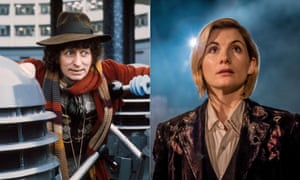 'Too stupid for words?' ... Tom Baker and Jodie Whittaker as The Doctor.