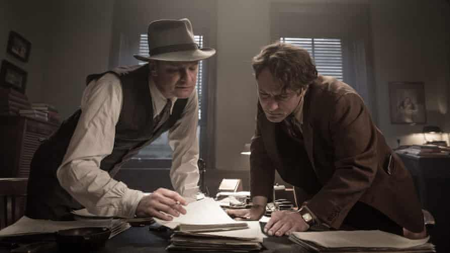 Judicious pruning required … Colin Firth and Jude Law in Genius.