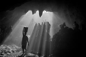 HAITI. Artibonite region. Saint Francis of Assisi's cave. 2001.