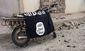 Isis flag on a motorbike