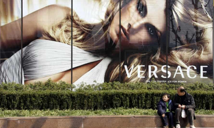 A Versace ad in Shanghai