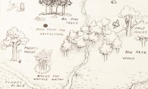 EH Shepard's illustration of the Hundred Acre Wood