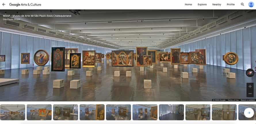 Screenshot from MASP, Sao Paulo, online virtual tour.