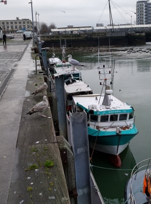 One of the Boulogne fishing boats broken into on Christmas Day.