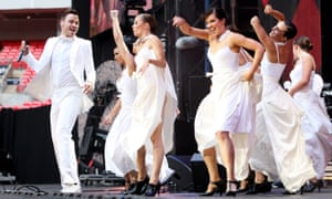 Will Young performing at the Concert For Diana in 2007.