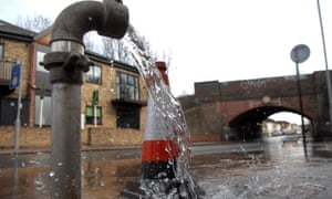 Water flows from a Thames Water standpipe