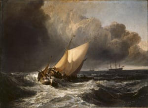 Spectacular … JMW Turner's Dutch Boats in a Gale – otherwise known as The Bridgewater Sea Piece.